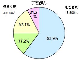 子宮がん円グラフ